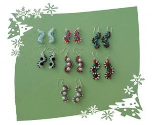 Linda Hanssen made these Whirlygig Earrings!